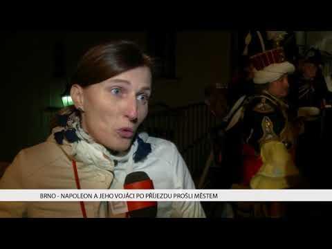TV Brno 1: 20.11.2017 Napoleon a jeho vojáci po příjezdu prošli městem