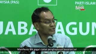 Manifesto BN gagal ciplak penghapusan bayaran tol