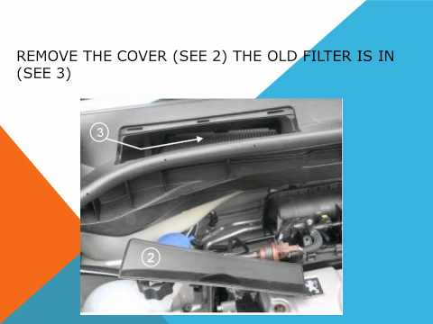 How to replace the air cabin filter   dust pollen filter on a Peugeot 1007