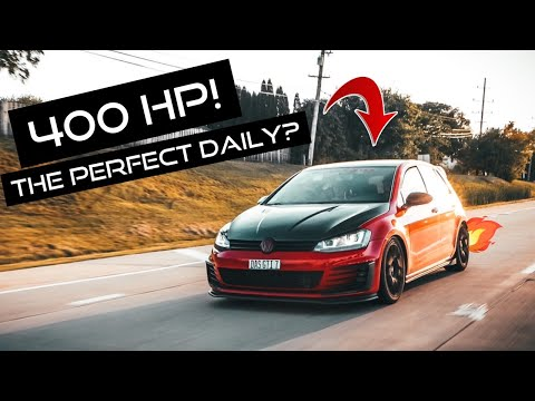 VW GTI IS38 TURBO is the PERFECT Daily Driver?! (4OO HP!) MK7 GTI