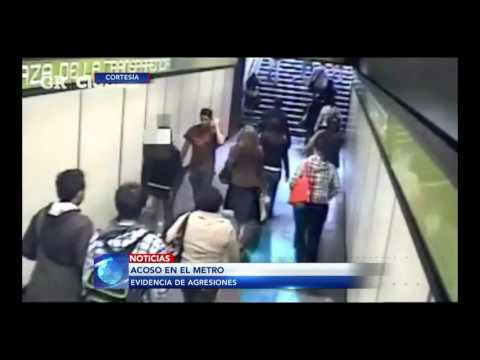 Imágenes de acoso sexual en el Metro de la CDMX