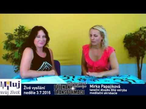 Mirka Papajiková – taneční divadlo Bílá velryba, meditační akrobacie