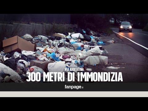 roma, discarica a cielo aperto: 300 metri di immondizia
