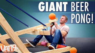 Video Giant Catapult Beer Pong! MP3, 3GP, MP4, WEBM, AVI, FLV Maret 2019