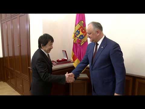Президент Республики Молдова провел встречу с Послом Японии