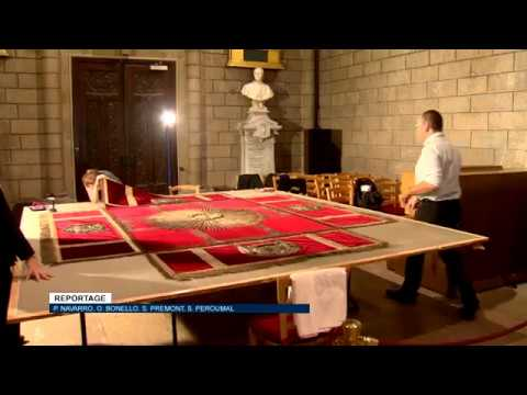 La restauration du dais est lancée en vue de la prochaine exposition sur les Grimaldi
