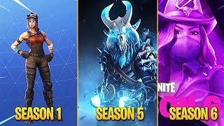 Evolution of Fortnite Battle Pass Skins! (Season 1 - Season 6)