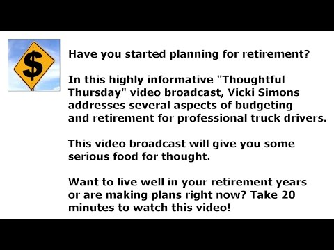 Planning to Retire? What Professional Drivers Need to Know