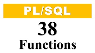 PL/SQL tutorial for beginners Introduction to PL/SQL functions in Oracle Database by Manish Sharma...