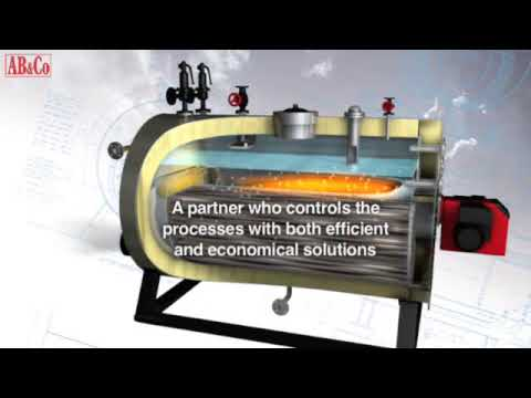 steam boiler animation - The video shows the working principle of a three pass steam boiler from the boilermaker AB&CO  TT BOILERS in Denmark. This is also a short introduction of t...