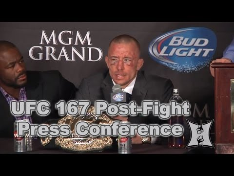 UFC - MMA H.E.A.T. brings you the UFC 167: Georges St-Pierre vs Johny Hendricks post fight press conference LIVE from the MGM Grand Garden Arena in Las Vegas, Nevada. Be sure to visit http://www.MMAHEAT...