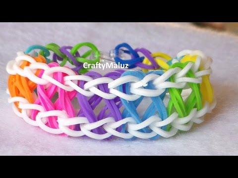 Tutorial: Rainbow Loom bracelet X Infinity/ Pulsera de Gomitas X Infinity