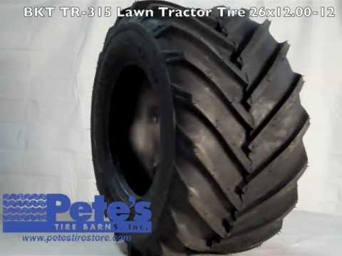 BKT TR-315 Lawn Tractor Tire 26×12.00-12 | Affordable Tire ...