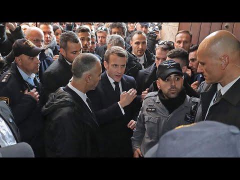 Video - Μακρόν αλά Ζακ Σιράκ: Βάζει τις φωνές σε Ισραηλινούς στρατιώτες - ΒΙΝΤΕΟ
