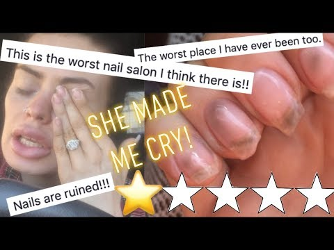 I Went To The WORST Reviewed Nail Salon - She Made Me Cry!!!!