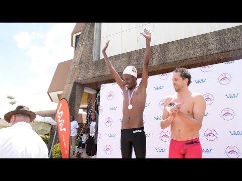 Desagu Wins Gold Medal in Swimming vs Olympic Finalist Jason Dunford