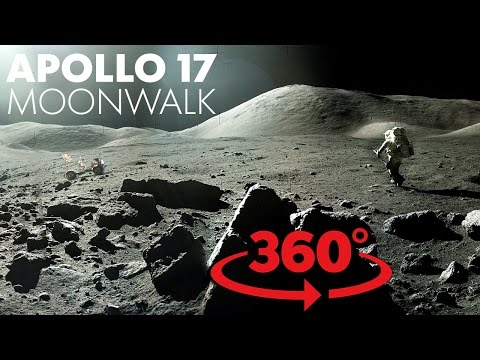Cool VR walk on the moon with NASA_Best spacecraft videos ever