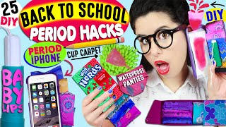 25 Period Life Hacks For Back To School: Period Phone Case, Tampon Baby Lips, DIY Menstrual Cup Rug! by GlitterForever17