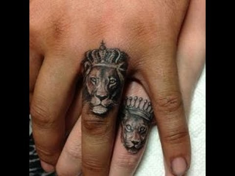 ring finger tattoos on hand for married couples 30+