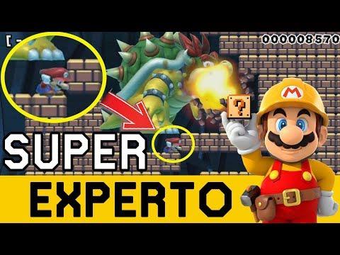 Bowser COLOSAL Quiere EXTERMINARME 😲 - SUPER EXPERTO NO SKIP   Super Mario Maker - ZetaSSJ