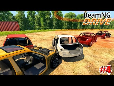 BeamNG.drive ГОНКИ НА ВЫЖИВАНИЕ (Crash test) 4 серия