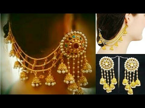 Devsena Aka Anushka(bahubali)style Earrings//side Ear Chain Earrings//layered Ear Chain Design Ideas