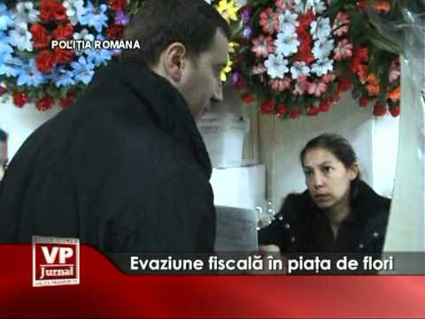 Evaziune fiscala in piata de flori