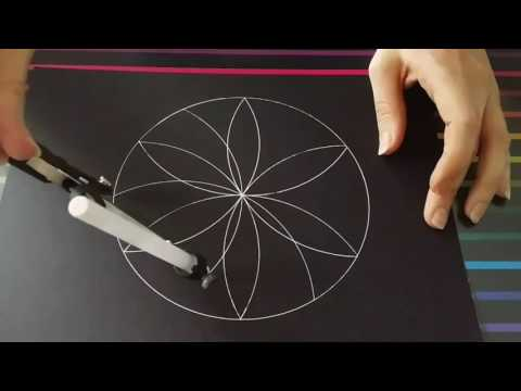 How to draw a flower of life mandala   Full video