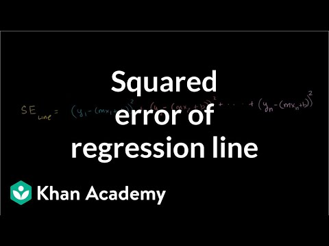 Squared error of regression line | Regression | Probability and Statistics | Khan Academy