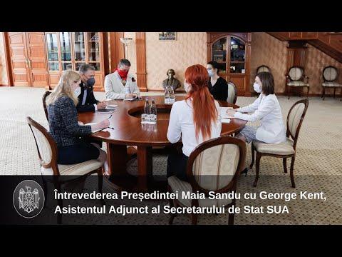 Президент Майя Санду провела беседу с заместителем помощника Государственного секретаря США Джорджем Кентом