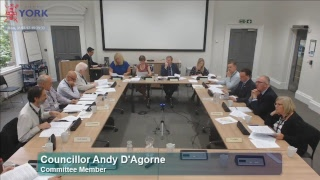 AGENDA (To view individual agenda items click on the links below)1. Declarations of Interest 00:01:142. Minutes 00:01:233. Public Participation 00:01:366. Police & Crime Commissioner Proposal on Future Governance of North Yorkshire Fire & Rescue Service 00:01:405. 2016-17 Draft Outturn 01:55:094. Schedule of Petitions 02:03:467. Draft ICT Policy (Postponed until later meeting)8. Work Plan 2017/18 02:12:20For full agenda, attendance details and supporting documents visit:http://democracy.york.gov.uk/ieListDocuments.aspx?CId=144&MId=10202