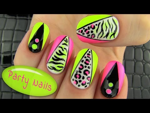 Nail - Party Nails - Nail Art Collaboration with Janelle -https://www.youtube.com/user/elleandish (Amazing Nail Artist) Party nails! Nail art tutorial for a party. ...