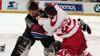 Follow my YouTube video updates on Twitter. http://twitter.com/HockeyWebCast The Detroit Red Wings–Colorado Avalanche brawl was a large-scale on-ice melee th...