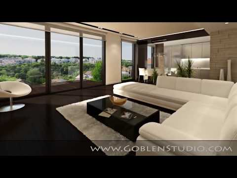 interior 3d animation - Realistic interior walkthrough 3D animation made for modern luxury apartment. You can discover more interior projects at: http://www.goblenstudio.com.
