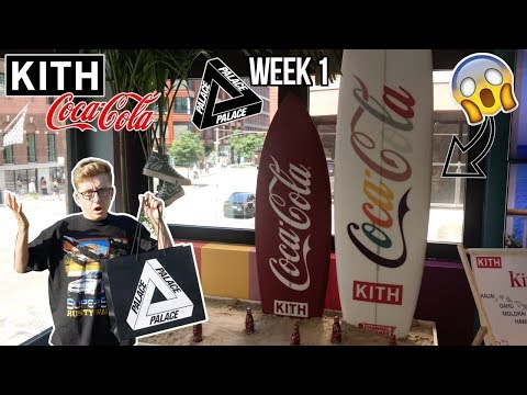 WHAT WENT DOWN KITH x COCA-COLA & PALACE WEEK 1 AW19 IN STORE NEW YORK CITY VLOG