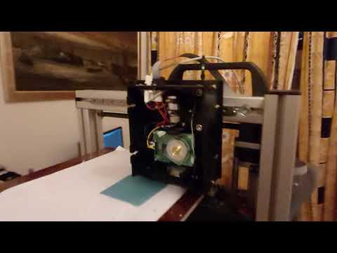 Laser in action not showing