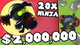 Bloons TD 6 - Shinobi Tactics Challenge - Tier 5 Ninja Monkey | JeromeASF