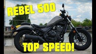 5. 2017 Honda Rebel 500  TOP SPEED