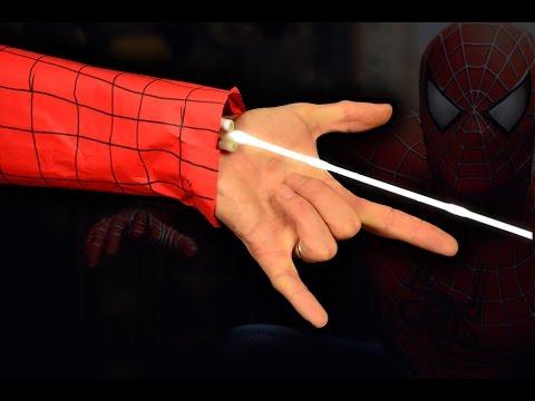 Как сделать Паутину Человека Паука чтобы стрелять. Как сделать настоящую паутину человека паука