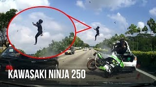 Video DETIK-DETIK Kecelakaan Maut KAWASAKI NINJA 250 VS Sedan di Jalan TOL Singapura MP3, 3GP, MP4, WEBM, AVI, FLV September 2018