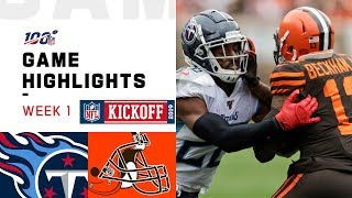 Titans vs. Browns Week 1 Highlights | NFL 2019