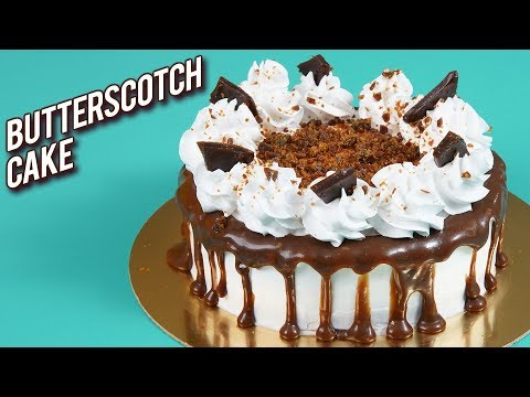 Butterscotch Cake Recipe – How To Make Butterscotch Cake At Home – Egg-less Cake – Bhumika
