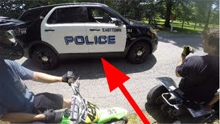 PIT BIKE ADVENTURE STOPPED BY COPS!!