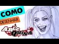 PARTE 1: Como desenhar a Arlequina de Esquadrão Suicida! How to draw Harley Quinn! Suicide Squad!