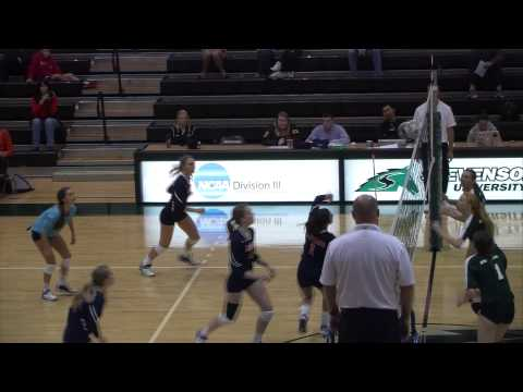Women's Volleyball Highlights: Stevenson vs. Gettysburg