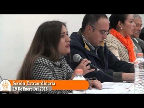 Sesión Extraordinaria No. 8 de Ayuntamiento 19 de enero de 2016