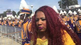 Alcorn Marching in for Homecoming ft The Dancing Dolls 2015-2016