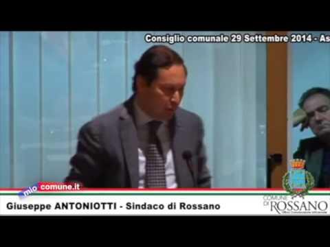 Rossano, Bilancio: l'intervento del  sindaco Giuseppe Antoniotti