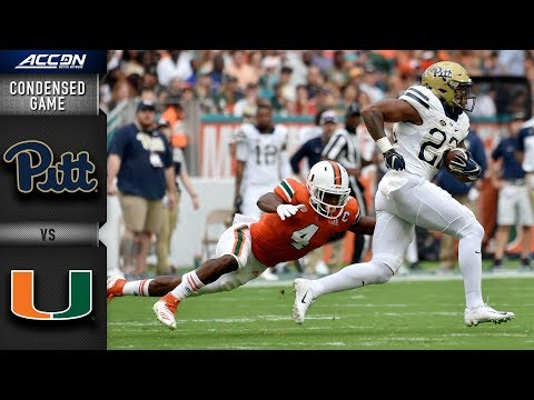 Miami Vs. Pittsburgh Condensed Game | 2018 ACC Football