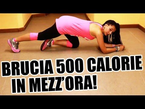 allenamento completo per bruciare 500 calorie in 30 minuti